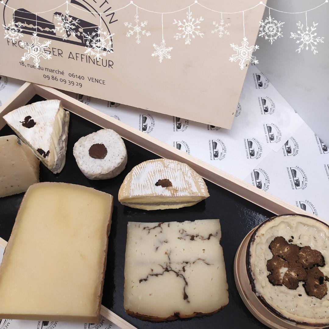 boîte à fromages de Noël fromagerie metin vence